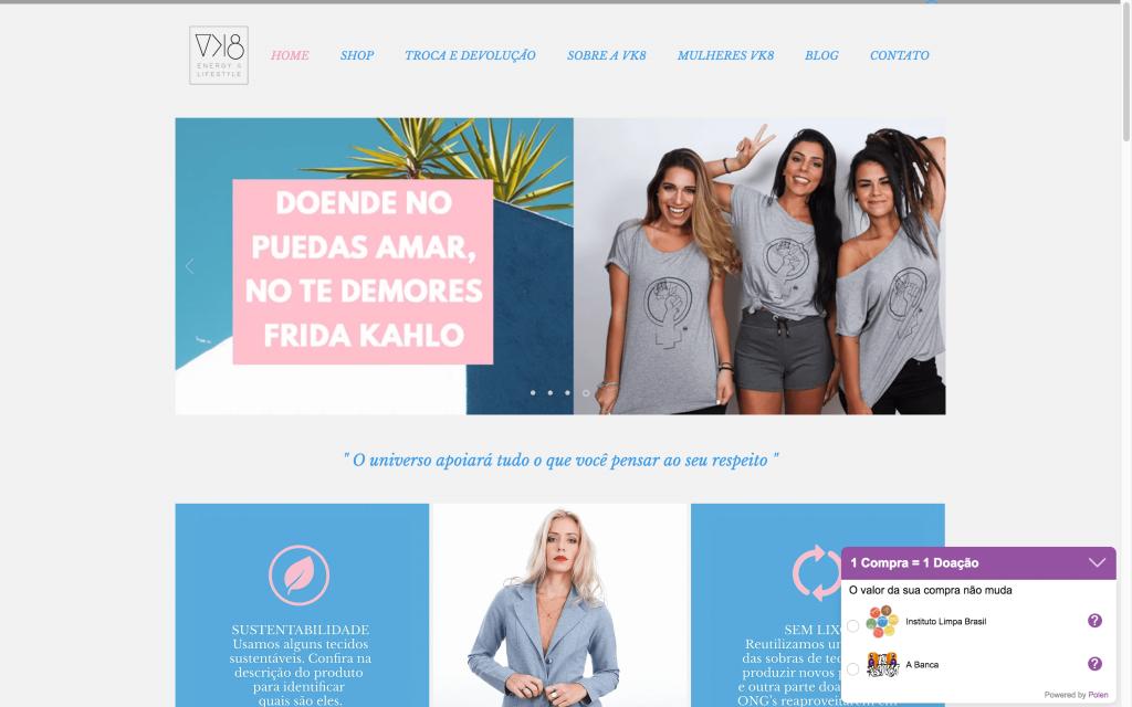 VK8 é um E-commerce Polinizador