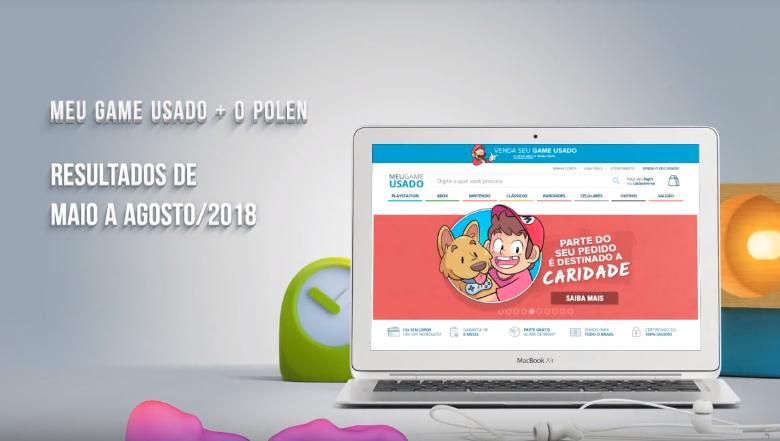 O e-commerce Meu Game Usado teve uma diminuição do abandono de carrinho impressionante usando a ferramenta do Polen no e-commerce