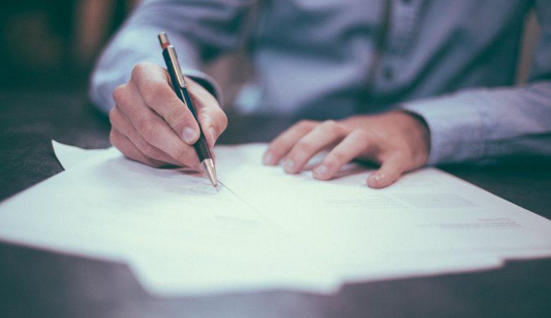 assinatura contrato